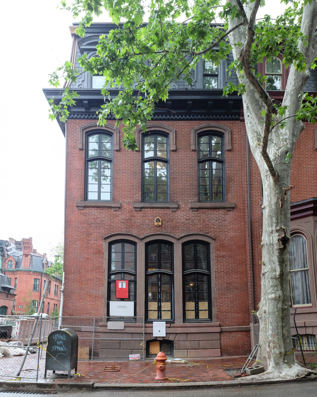 Delancey Place whole house renovation and historic preservation to nineteenth-century row house – with John Toates Architecture & Design and S.R. Gambrel Inc. Expected completion Fall 2018.