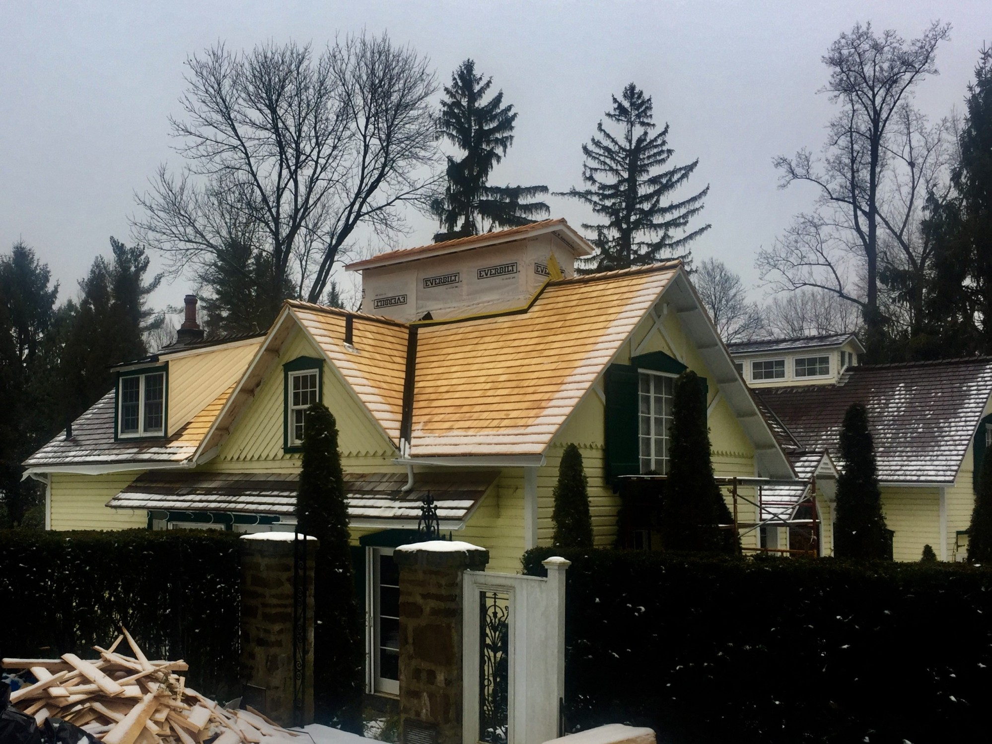 Restoration of early 1800s home in Haverford, PA following extensive tree damage from 2018 storm. Architect: Wyant Architecture